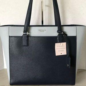 Kate Spade Bag Cameron Leather Laptop Tote Blue